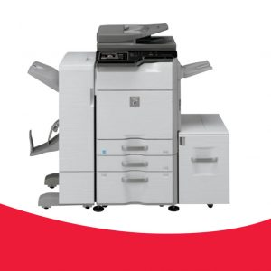 """MX-M364N/M464N/ M564N/M365N/M465N/ M565N  36ppm, 46ppm, 56ppm Mono Multi-Functional Printer Solution  Customisable 10.1"""" tiltable (MXMx65N) or 7"""" fixed (MX-Mx64N) colour LCD touchscreen with retractable keyboard (option)  Single Pass Duplex Document Feeder to boost scanning productivity*  4 finishing options to match your requirements  PCL/Postscript/JDF format available for faster RIP speed**  Wireless LAN connector**  OSA available**  *MX-Mx65N only **optional on MX-Mx64N"""