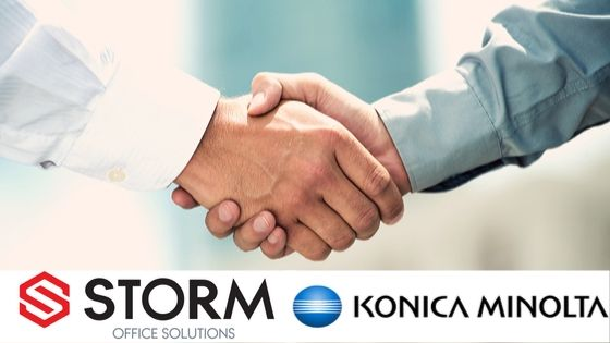 STORM OFFICE SOLUTIONS HAVE PARTNERED WITH KONICA MINOLTA